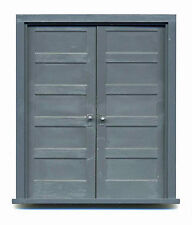 """FIVE PANEL DOUBLE DOOR W/ FRAME 1/2"""" F G Scale Doll House Model Railroad GL3962"""
