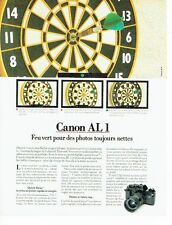PUBLICITE ADVERTISING 027  1982  Canon  appareil photo AL 1