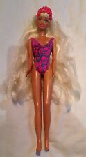 Sindy Vintage Doll 1994 Hasbro Pink Swimsuit Purple Eyes Blonde Hair