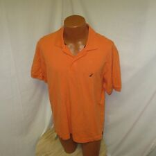 (L) Men's Nautica Orange Polo Shirt