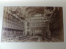 C1880's Original Mounted Photo - St.George's Chapel, Windsor-Choir looking West