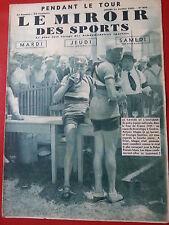 1935 le miroir des sports n°834 TOUR DE FRANCE 1935 SPEICHER MAGNE ETAPES