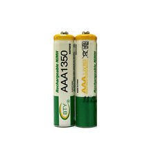 2 x AAA 3A 1350mAh LR03 Ni-MH 1.2V Rechargeable Battery Cell BTY Green