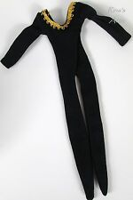 Vintage Mego Cher Dressing Room BLACK & GOLD LEOTARD Outfit