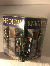 TIMELINE PEWTER MEDIEVAL KNIGHTS (5) & GAMEBOARD New