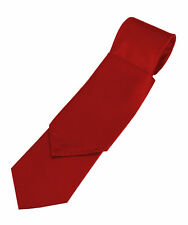 Lot of 50 Man's Scarlet Satin Tie and Pocket Square Sets