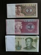 China $1 (1999), 5 Jiao (1980), 1 Jiao (1980) Total 300pcs (UNC) 全新人民币, Free Pos