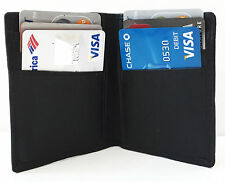 Black Men's LEATHER Bifold Thin Wallet Credit 6 Card Case Front Pocket LP 21 New