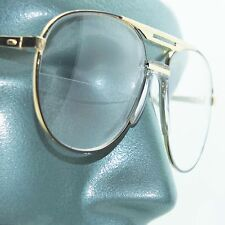 Aviator Traditional True Half Bifocal Reading Glasses +1.50 Black Gold Frame