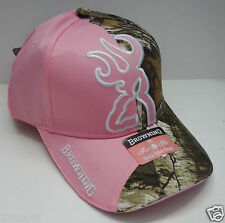 BROWNING hunting  hat NEW baseball cap big buckmark ladies womens pink camo