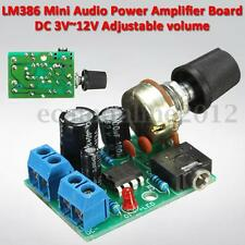 DC 3V~12V 5V LM386 Audio Power Amplifier Board Mini AMP Module Adjustable Volume