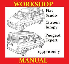 FIAT SCUDO VAN MINIBUS 1995 2007 SERVICE WORKSHOP REPAIR MANUAL ENGINE PARTS