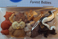 VAT Free Dress It Up Forest Babies 6 Buttons Sewing Crafting Cardmaking New