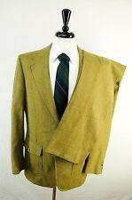 Half Norfolk Tweed Triple Patch Pocket Wool Shooting Suit Side Tab Pants 41L