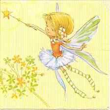 4 simples serviettes en papier pour découpage flying fairy