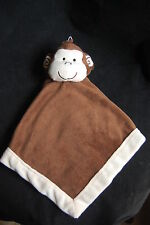 """Tiddliwinks Monkey Brown Cream Soother Baby Security Blanket Velour Plush 13"""""""