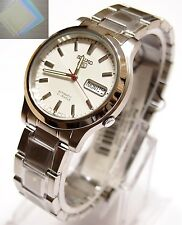 SNK789 SEIKO 5 Stainless Steel Band Automatic Men's White Watch SNK789K1 +(Gift)