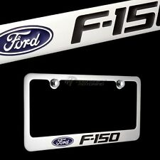 FORD F-150 F150 Chrome Plated Brass License Plate Frame w/ Chrome Cap AUTHENTIC