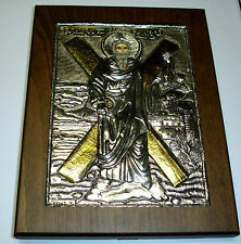 St. Andreas Andrew Silber Oklad Ikone Icon Icona icone Silver икона Ikona