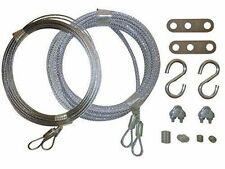 """Garage Door Cable Replacement Kit. Two 3/32"""" x 13 Long and Two 1/8"""" x 14 Cables,"""