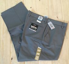 NWT Mens Grey DOCKERS SIGNATURE Flat Front Pants Size 34W 29L $58