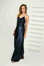 Finders Keepers Dream On Sequin Maxi Dress Matte Navy Sz XS (US 2 / US 4)