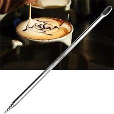 ACCIAIO Inossidabile Barista Latte Macchiato ART PEN caffè Fancy STICK strumenti GADGET MAKER - 6A