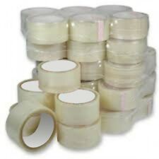 "2"" x 66M Transparent parcel packaging Tape 12 Rolls Free UK SHIPPING"