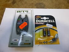 NGT VX1 Carp Fishing Tackle Bite Alarm Indicator/ Volume Case & Battery duracell