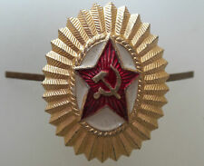 Soviet Army Military Uniform Hat Red Star Pin Badge CCCP