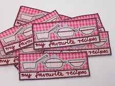 10 x Embroidered My Favourite Recipes Note Book Arts Crafts Making Motifs #7E15