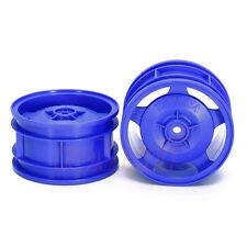 Tamiya Star Dish 4WD Rear RC Cars Buggy Wheels Blue TT02B DF01 DF02 DT03 #54682