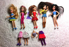 Polly Pocket Pop N Swap Lot Of 5 Pull Apart Snap Back Dolls W/ Clothing & Bodies