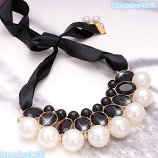 Ladies Sparkling Big Crystal elegant Chunky Statement Necklace Choker For Women