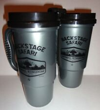 Disney's Animal Kingdom BACKSTAGE SAFARI KILIMANJARO Travel Mug Cups SET OF 2