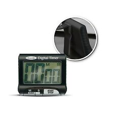 BLACK MAGNETIC DIGITAL LARGE LCD KITCHEN TIMER COOKING CHEF FRIDGE COUNT UP DOWN