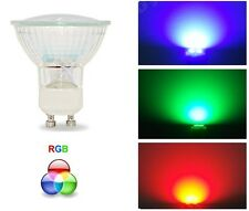 3w LED GU10 Automatic Colour Change Red Green Blue RGB Light Bulb