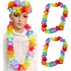 2/6/12pcs Summer Hawaiian Beach Flower Necklace Decorations Crafts Party Hula
