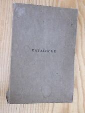 1884 READING Massachusetts CATALOGUE of the FREE PUBLIC LIBRARY Books HOLDINGS