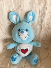 "Care Bears Cousins 2004 SWIFT HEART RABBIT Red Blue White 9"" Plush Bunny Ears"