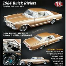 ACME A1806303 1964 BUICK RIVIERA 1:18 DIECAST MODEL CAR BRONZE LIMITED EDITION