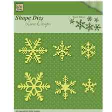 Nellie Snellen Cutting Dies Christmas Snowflakes Assorted Shapes & Sizes - 6pcs