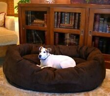 Majestic Pet Bagel Dog Pet Bed Chocolate XL Dog Bed Pet Dogs Love This Super Bed