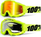 100% PERCENT ACCURI MX MOTOCROSS GOGGLES FLORESCENT FLOU YELLOW mtb bike flow