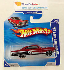 '66 Ford Fairlane GT * RED * Short Card * Hot Wheels 2010 * N36