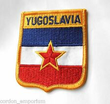 YUGOSLAVIA WORLD COUNTRY FLAG EMBROIDERED PATCH 2 X 3 INCHES