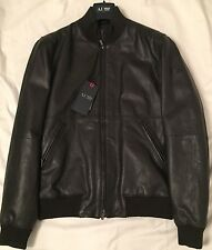 Armani  AJ -  Navy Leather  Jacket MC68  size 50 eur