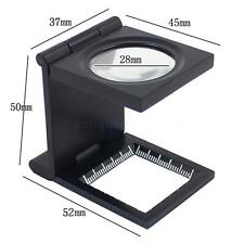 10X 28mm Folding Magnifier for Stamps Coins Hobby Collector Magnification Loupe