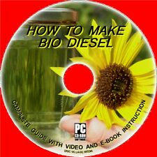 HOW 2 MAKE BIO-DIESEL FUEL FROM WASTE COOKING FAT/OIL CD-ROM Clean Fuel Save £s