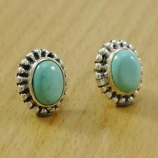 AMAZONITE Stone 925 Solid Silver Women Ear Stud AMAZING Fashion Earrings Jewelry